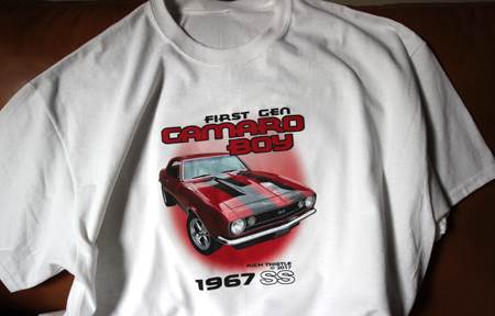 1967 Camaro SS graphic on a T-Shirt